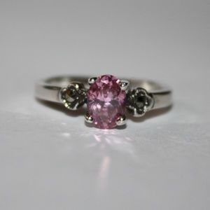 Jewelry - Sterling Pink and Marcasite Ring NWT